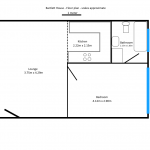 Floor plan - 1 Bedroom Flat